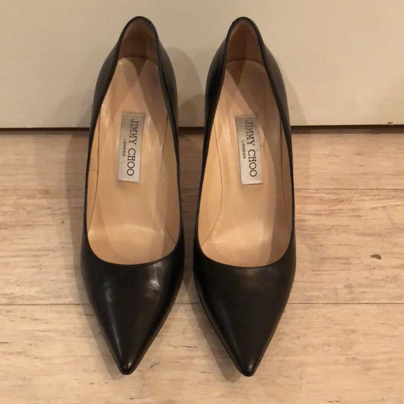 6eb344bdf9 Jimmy Choo Shoes - Jimmy Choo Romy 85 Black Pumps